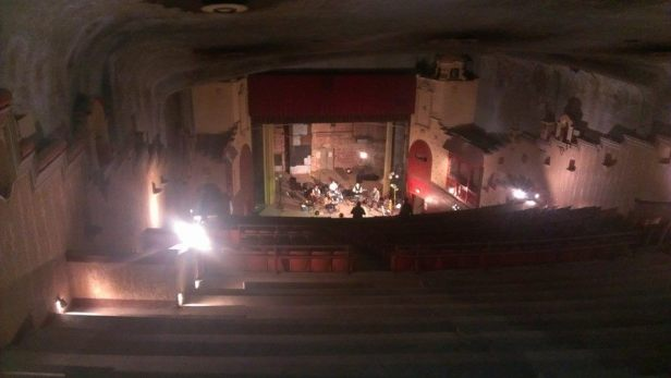 View of the stage at The Ritz Theater from the upper balcony- help us save the Ritz!