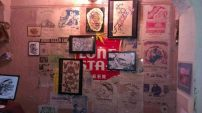 Amazing vintage concert posters on the wall!